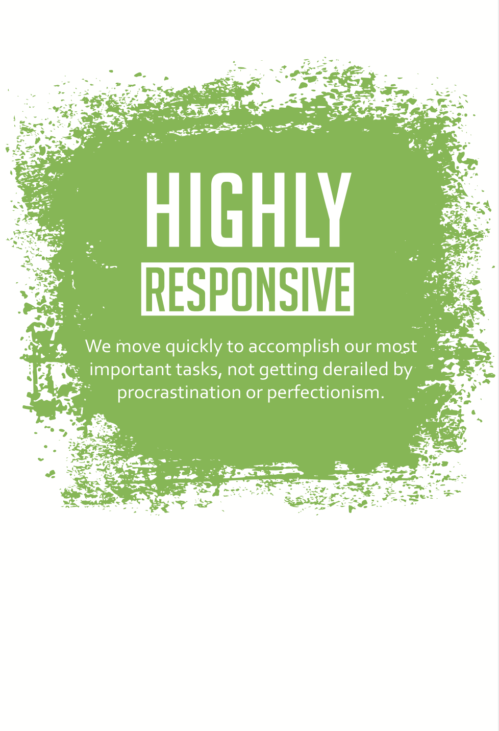 Harvest Wealth Group Core Values- Highly Responsive