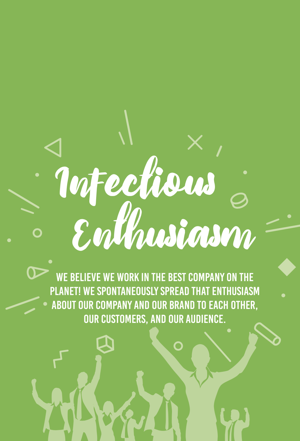 Harvest Wealth Group Core Values- Infectious Enthusiasm