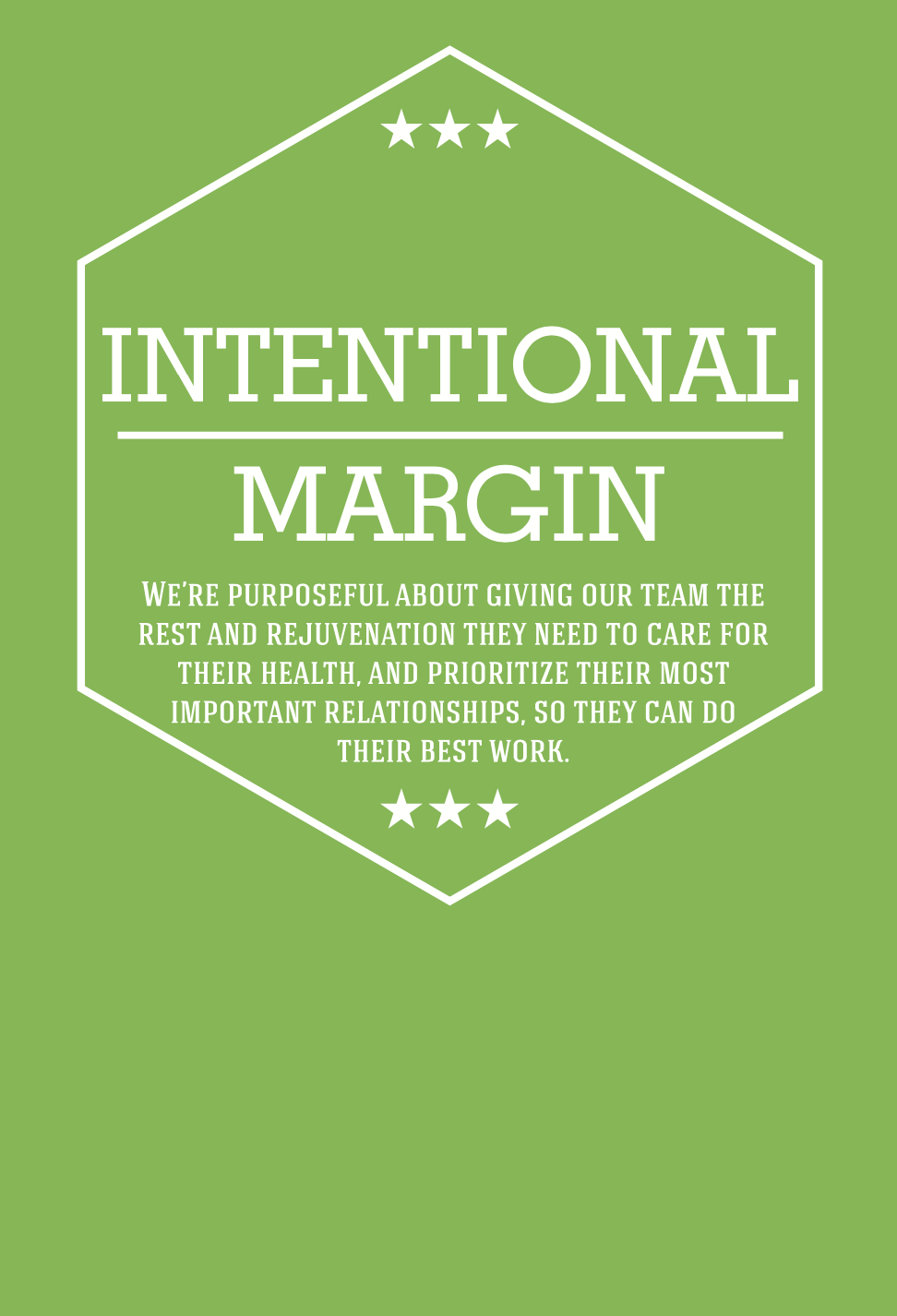 Harvest Wealth Group Core Values- Intentional Margin