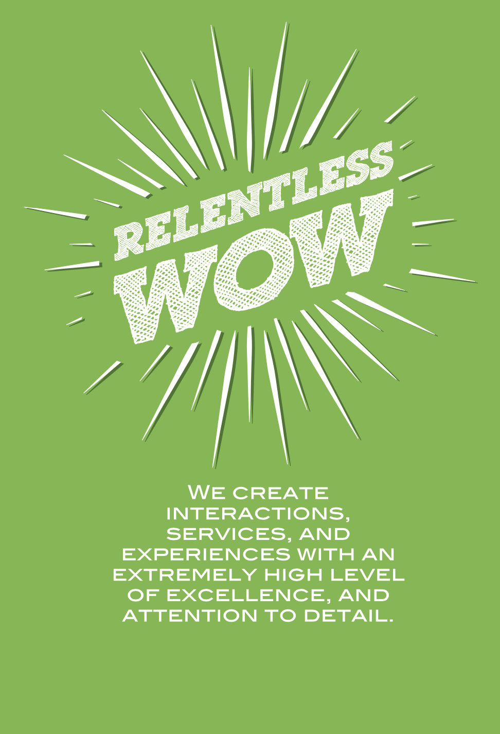 Harvest Wealth Group Core Values- Relentless Wow