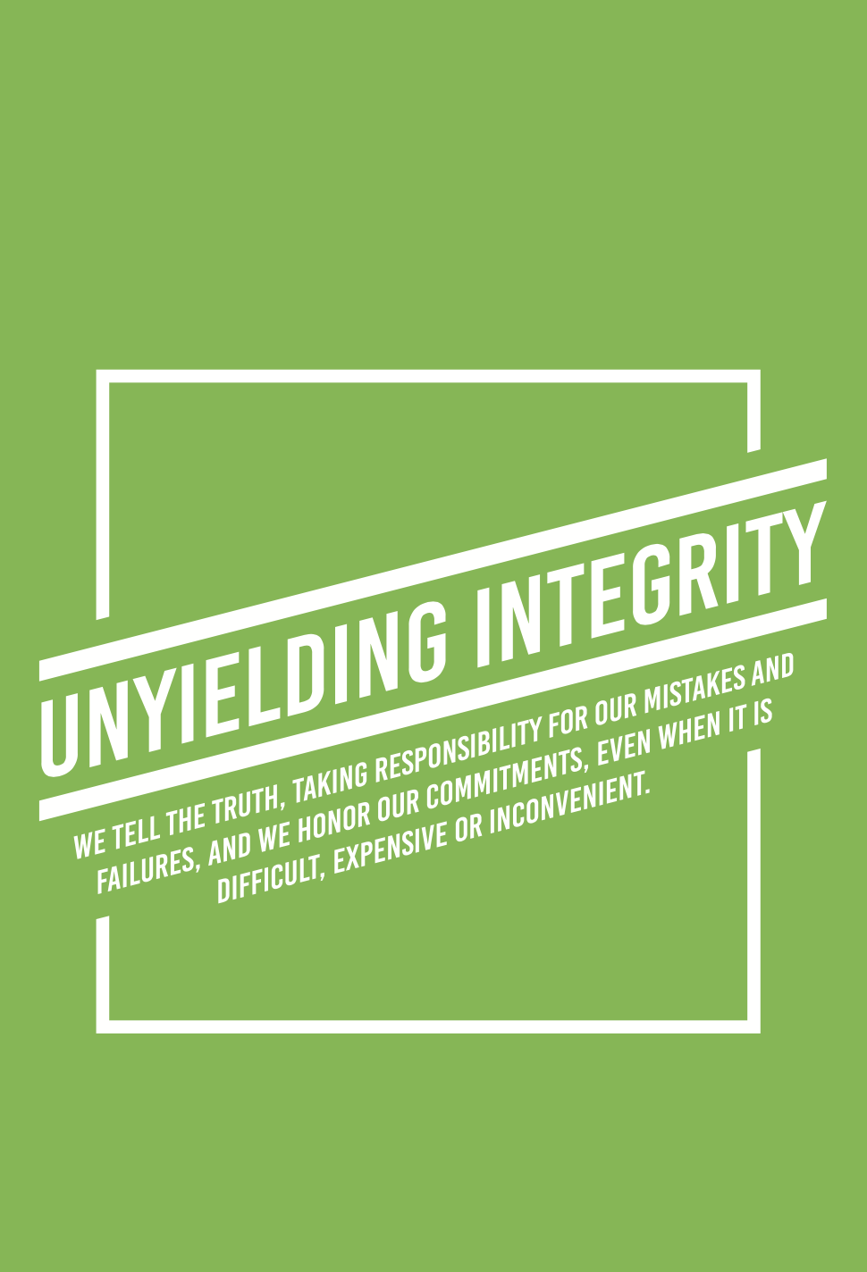 Harvest Wealth Group Core Values- Unyielding Integrity
